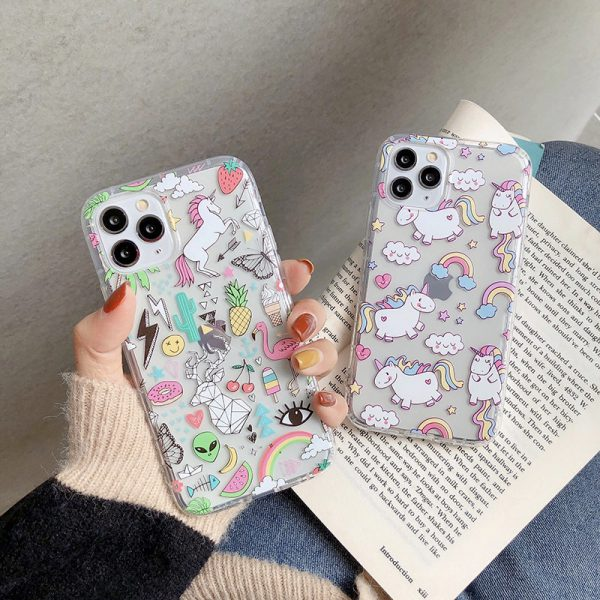Unicorn Stickers iPhone 11 Pro Max Case - FinishifyStore