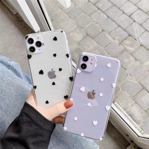 Love Heart Clear iPhone 11 Case - FinishifyStore