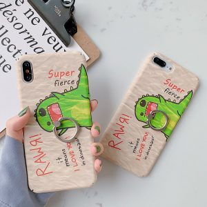 Painting Dinosaur Cartoon iPhone Case