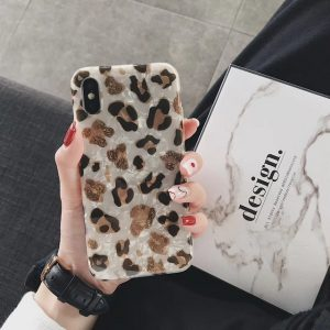 Leopard Marble iPhone X Case - FinishifyStore