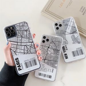 Map City Label Design iPhone Case - FinishifyStore
