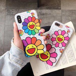 Murakami Takashi Sun flowers iPhone Case