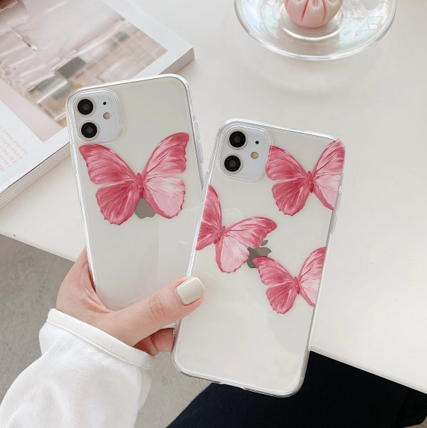 Pink Butterfly Painting Art iPhone 11 Pro Case