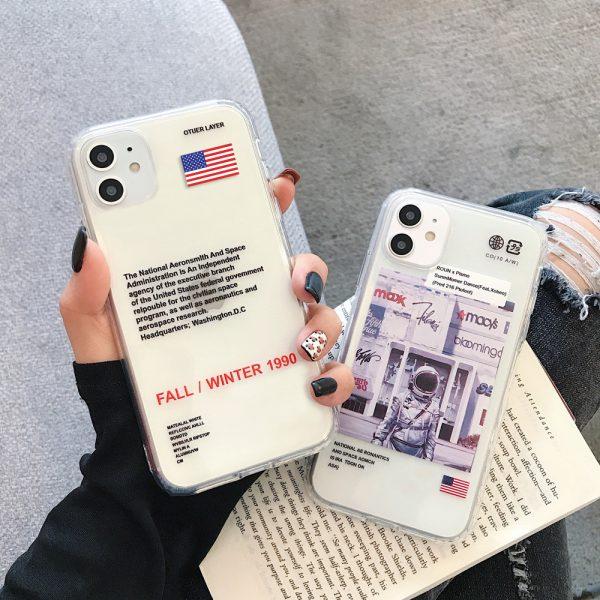 US Astronaut Label Design iPhone case