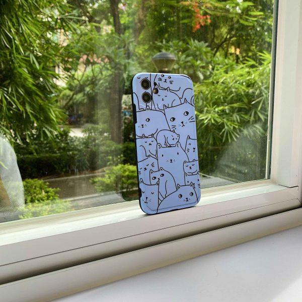 Blue Cat Design Phone Case for iPhone - FinishifyStore