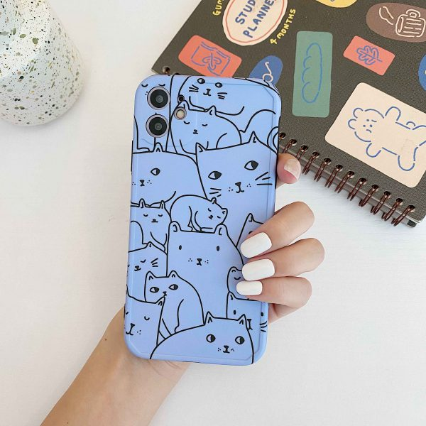 Blue Cat Art iPhone 11 Case - FinishifyStore