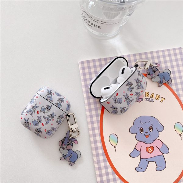 Cool Funny Purple Lovely Rabbit AirPods Cases - FinishifyStore