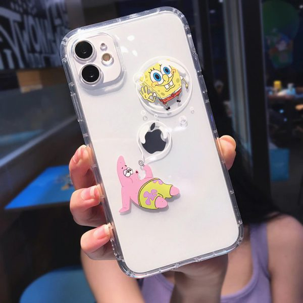 Funny SpongeBob iPhone 11 Pro Max Case - FinishifyStore