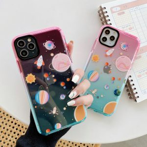 Gradient Planet Clear iPhone 11 Pro Max Case - FinishifyStore