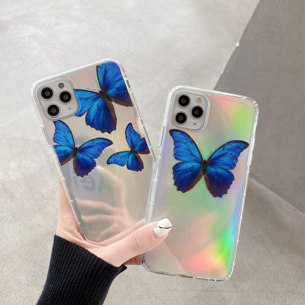 Holographic Blue Butterfly iPhone 11 Case - FinishifyStore