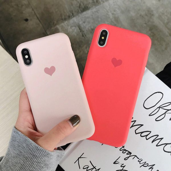 Love Heart Silicone Case for iPhone - FinishifyStore