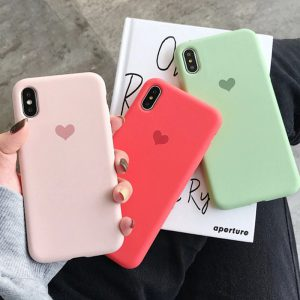 Love Heart Silicone iPhone X Case - FinishifyStore