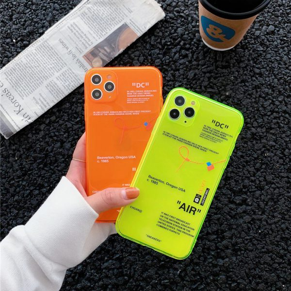 Off White Fluorescent iPhone Case - FinishifyStore