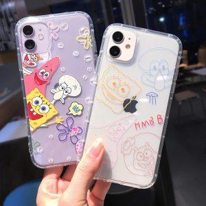 SpongeBob Clear iPhone 11 Pro Cases - FinishifyStore