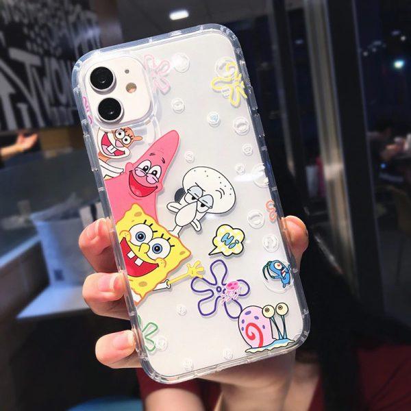 SpongeBob Clear iPhone 11 Pro Max Case - FinishifyStore