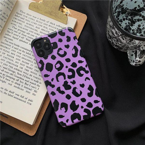 Purple Leopard Print iPhone 11 Pro Max, 11 Pro, 11, Xs Max, XR, Xs, X, 7/8 Plus Case - FinishifyStore