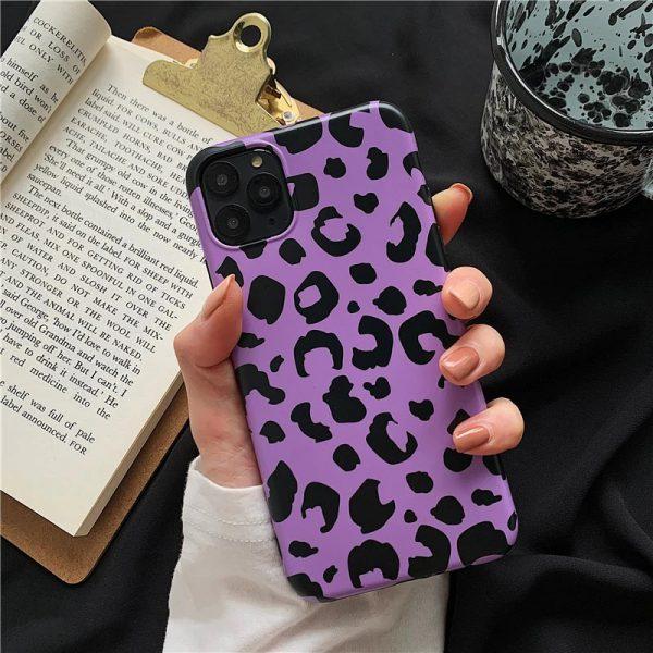 Purple Leopard Print iPhone 11 Pro Max Case - FinishifyStore