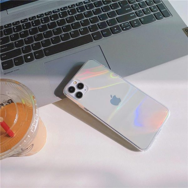 Aura Holographic Clear iPhone Case 11 Pro Max - FinishifyStore