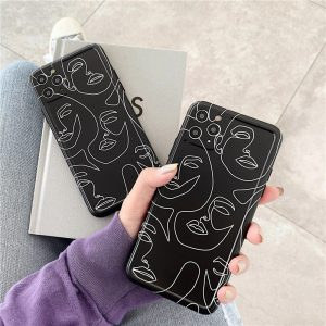 Black Line Art iPhone Case - FinishifyStore