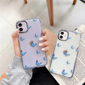 Blue Butterfly Clear iPhone 11 Pro Max Case - FinishifyStore