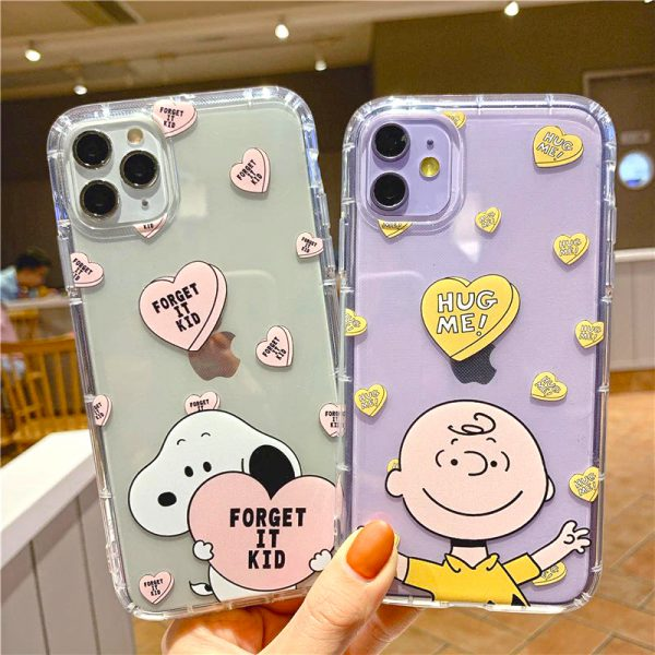 Charlie Brown Clear iPhone Case 11 Pro Max, 11 Pro, 11, Xs Max, Xs, Xr, X, 7/8 Plus Case - FinishifyStore