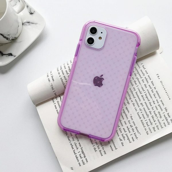 Cross Pattern Shockproof Lavender iPhone Case - FinishifyStore