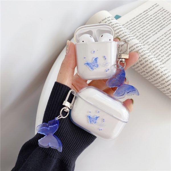 Cute Butterfly Clear Airpods Cases