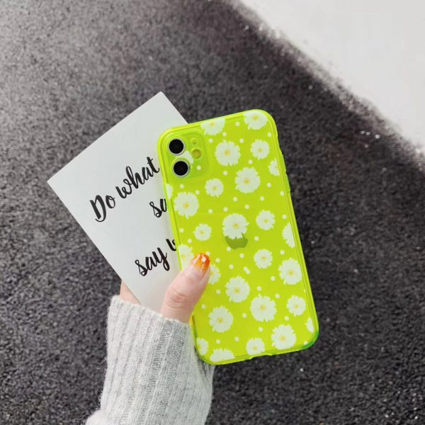 Daisy Fluorescent Yellow Color iPhone 11 Pro Case - FinishifyStore