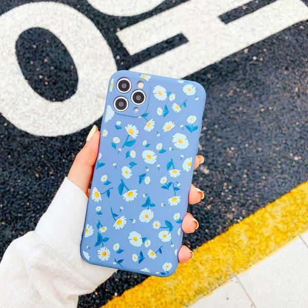 Daisy flower purple silicone iphone 11 pro max case - finishifystore