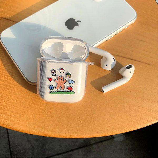 Cartoon Clear Lovely Bears AirPod Case - FinishifyStore