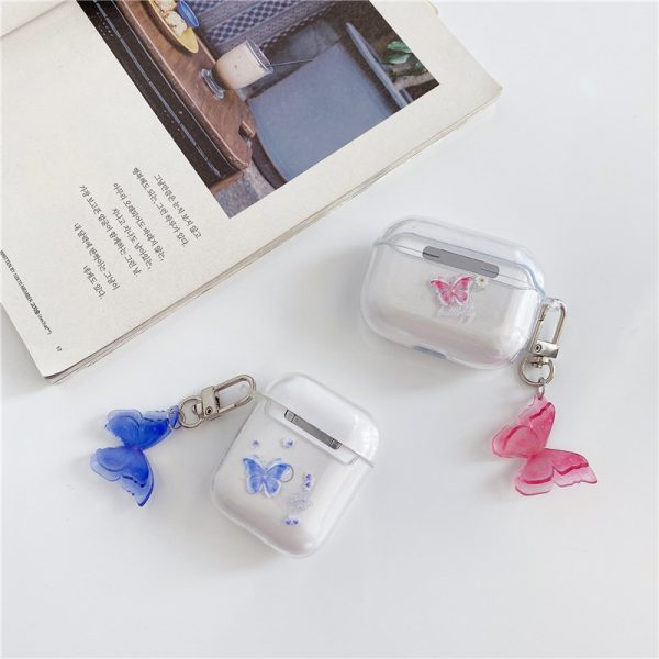 Cute Pink Purple Butterfly AirPod Case - FinishifyStore
