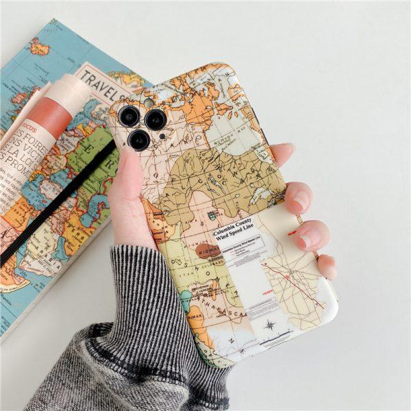 World map drawing iPhone 11 Pro Max Case - FinishifyStore