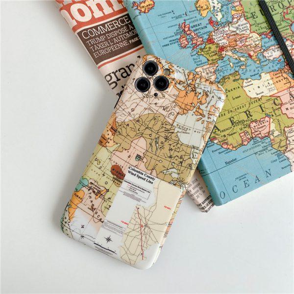 World map drawing iPhone 11 Pro Case - FinishifyStore