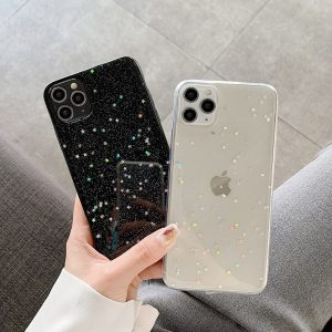 Bling Glitter Shining Stars Clear iPhone Case
