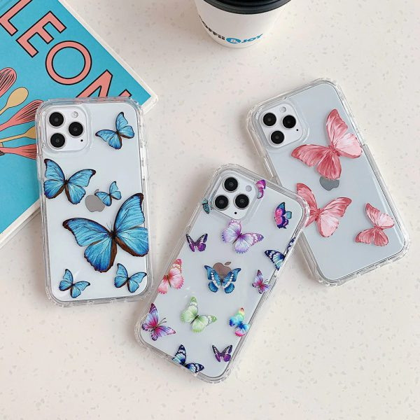 Butterfly Clear Shockproof iPhone Case 11 Pro Max - FinishifyStore