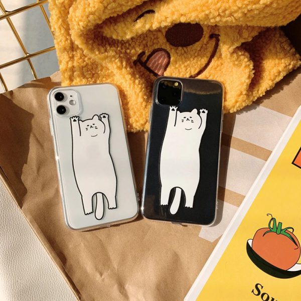 Cartoon Cat Clear iPhone 11 Pro Case - FinishifyStore
