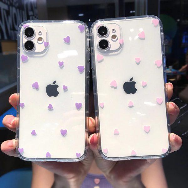 Cute Heart Clear iPhone 12 Case - FinishifyStore