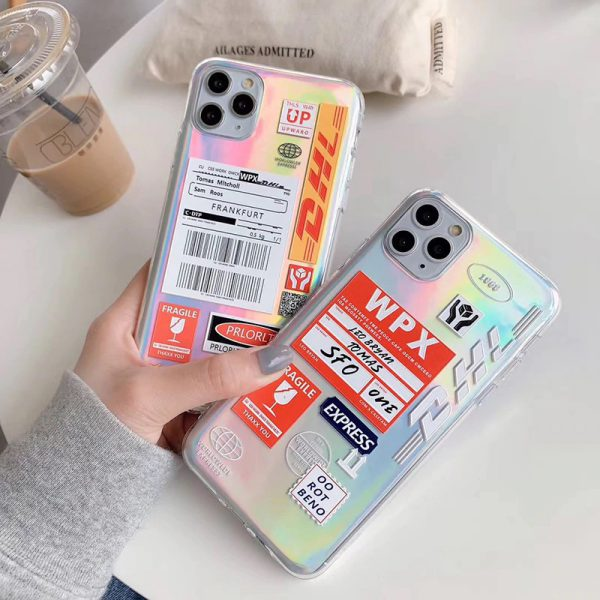 Holographic DHL Label iPhone Case - FinishifyStore