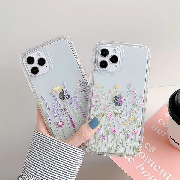 Flower Clear iPhone 12 Case - FinishifyStore