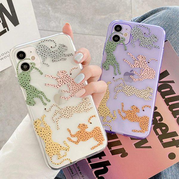 Leopard Clear iPhone 11 Case