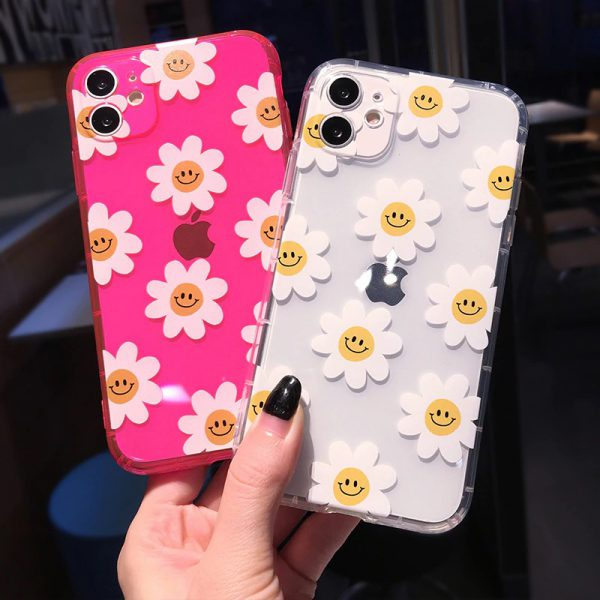 Neon Daisy Clear iPhone 11 Case - FinishifyStore
