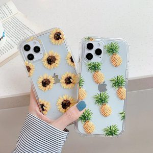 Pineapple Sunflower Clear iPhone 12 Pro Case - FinishifyStore