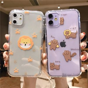Cartoon Lion Clear iPhone Case - FinishifyStore