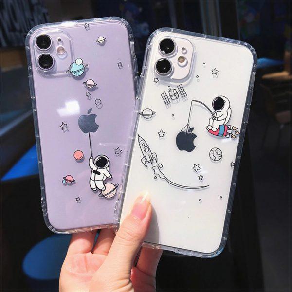 Astronaut Planet iPhone 12 Case