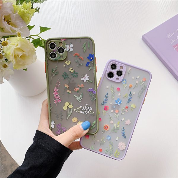 Cute Flowers Matte iPhone 11 Pro Max Case