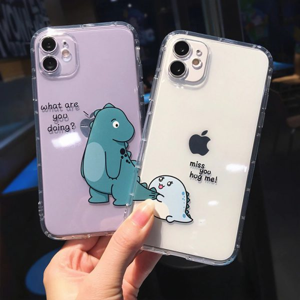 Funny Cartoon Dinosaurs iPhone 12 Case
