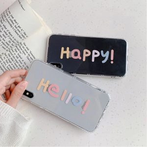 Graphic Word Clear iPhone Case