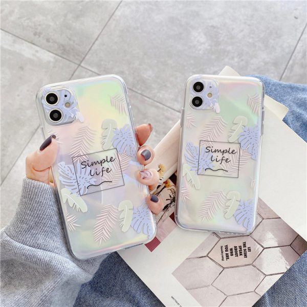 Holographic Art Clear iPhone Case