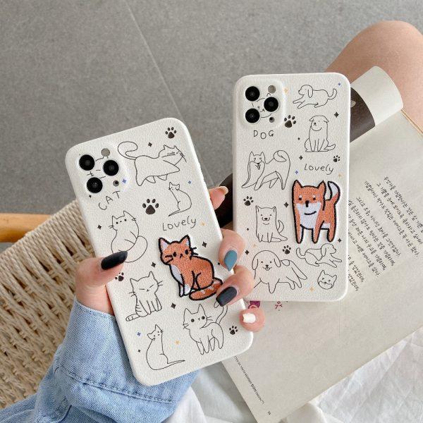 Cartoon Painting Pets Design iPhone 11 Pro Max Case