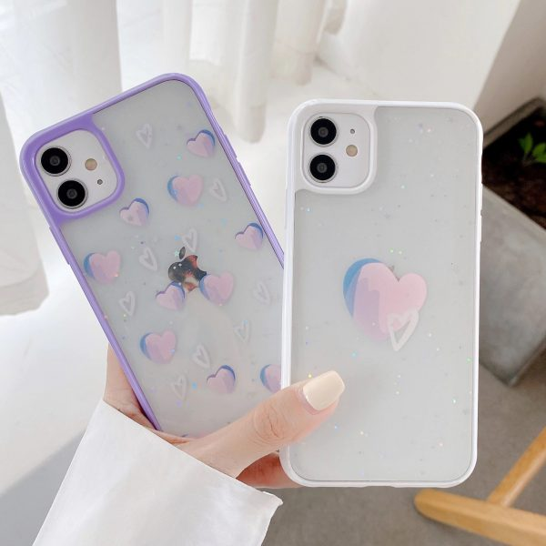 Purple Heart Shockproof iPhone Case